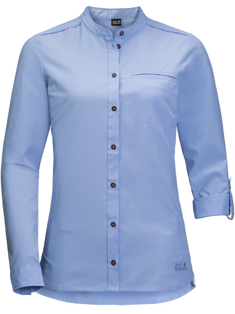 Jack Wolfskin Victoria Roll-Up Shirt Women shirt blue